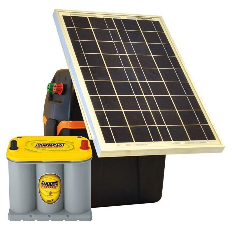 Agrovete - Kit S230: Eletrificadora B200 + Painel solar + Bateria 1