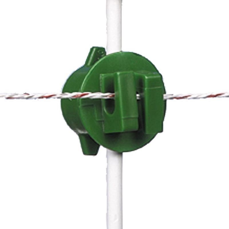 Agrovete - Isolador Verde de Rosca para Varão - 20 uni. 1