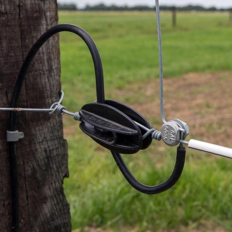 Agrovete - Isolador Início-Fim Preto - 100 uni. 2